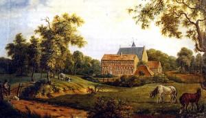 Klooster_Ter_Apel_door_Arnold_Hendrik_Koning_(1834)