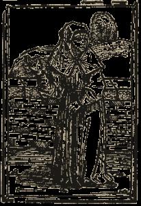 Een kwezel in het boek De Dodendans, 1489